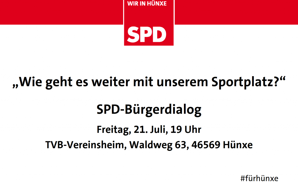 SPD-Bürgerdialog: Zukunft des Sportplatzes Bruckhausen