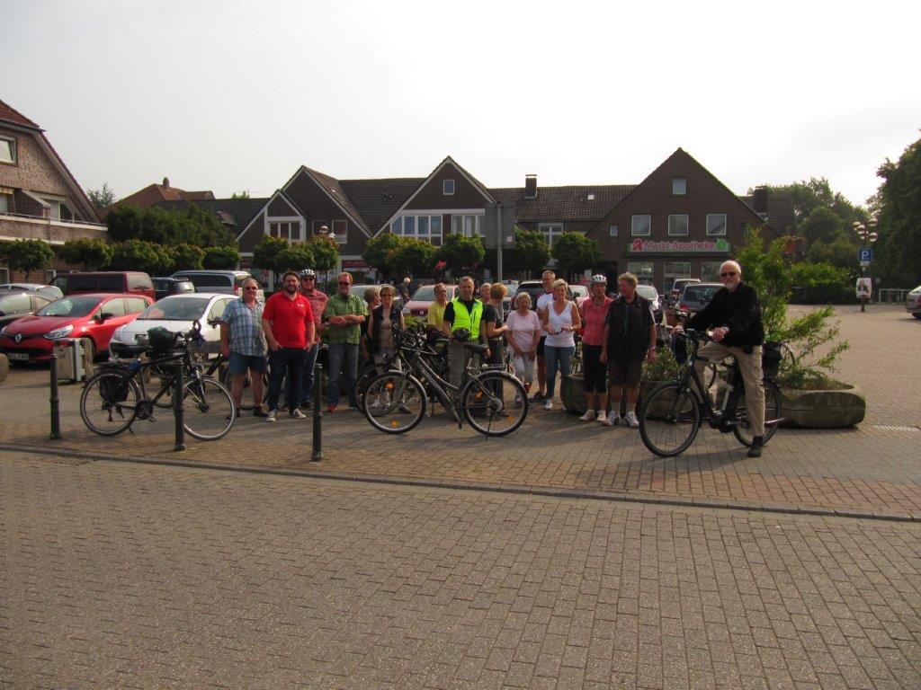 Die Sommer-Radtour der SPD Hünxe im vergangenen Jahr