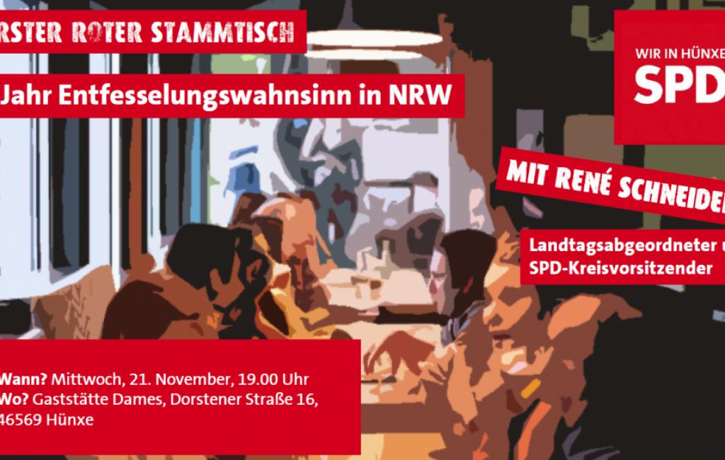 20181121 RoterStammtisch_Entfesselungswahnsinn in NRW