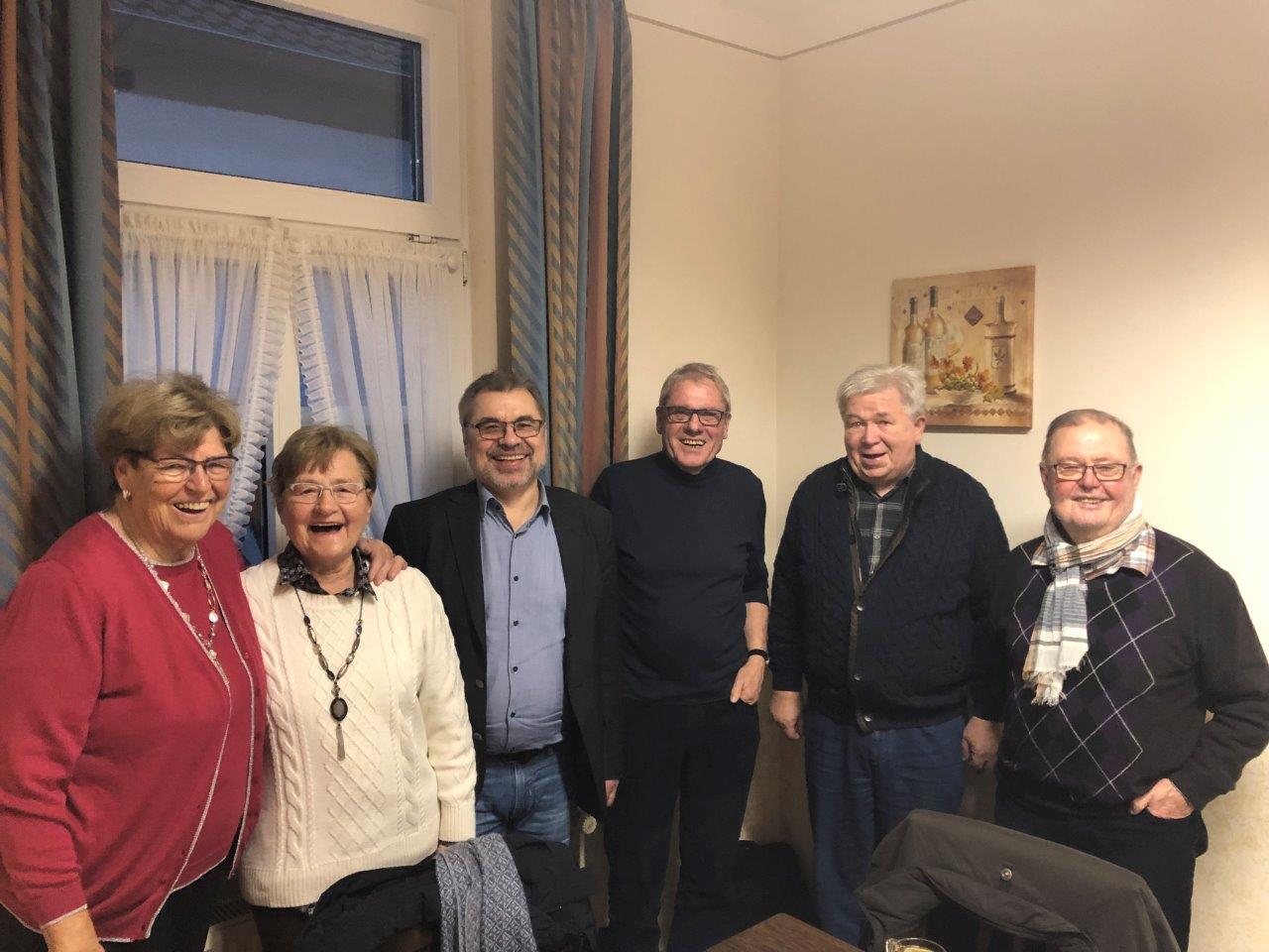 (v.l.) Lydia Kellmann, Gisela Dubrau, Volker Marquard, Siegmund Braune, Karlheinz Dvorak, Horst Dubrau