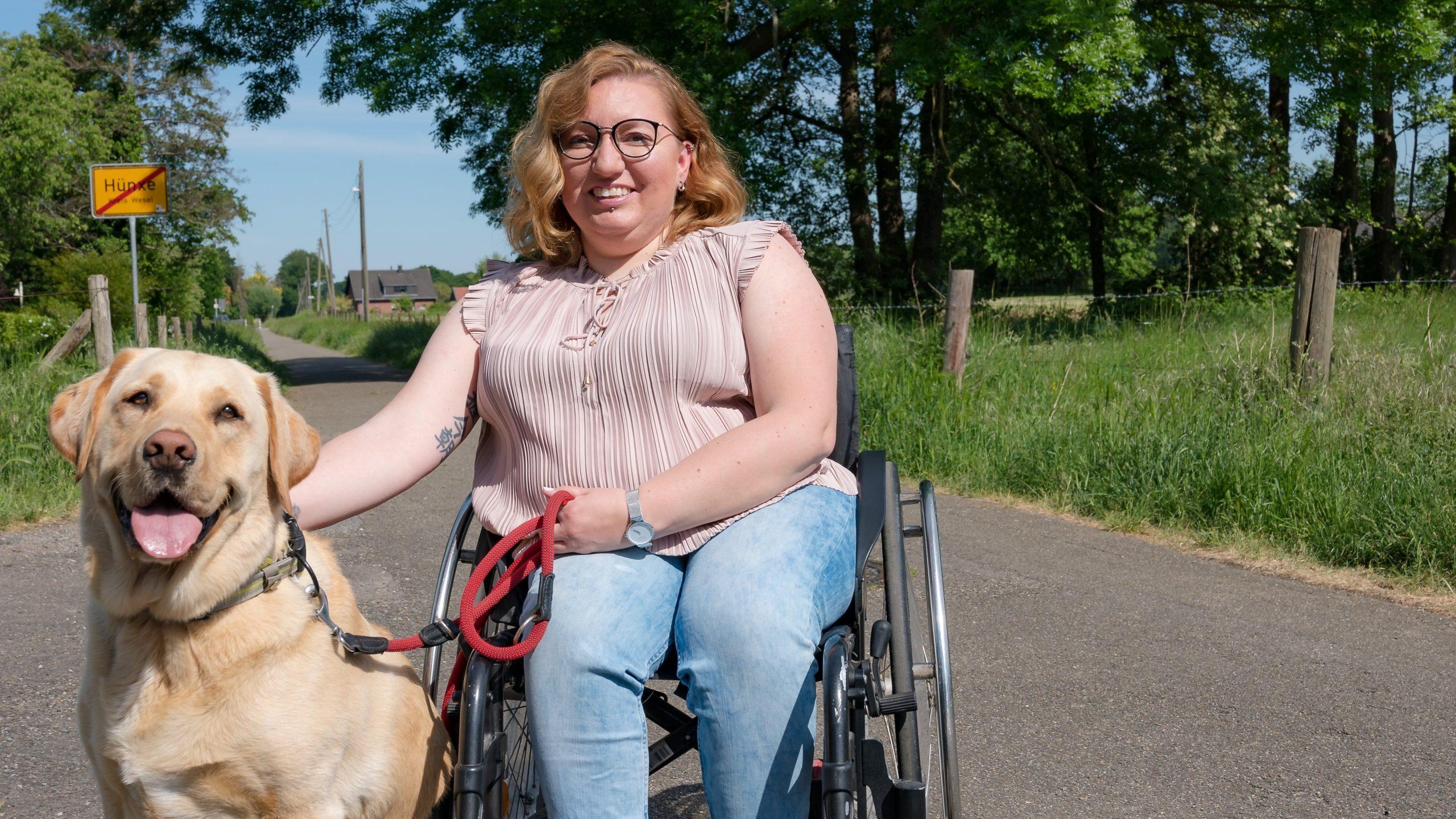 Dominique Freitag ist stellvertretende Vorsitzende der Hünxer SPD und machte mit einer Schwerbehinderung ihr Abitur an einer Regelschule.